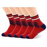 Calcetines deportivos Drymax con cojín antibacteriano para hombre y mujer Rojo...