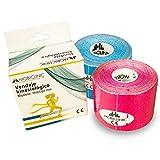 Mobiclinic, Pack de 2 Kinesiotape, Mobitape, Venda Neuromuscular Adhesiva,...