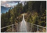 Panorama Póster Puente Colgante 30 x 21 cm - Láminas Decorativas Pared -...