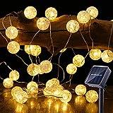 Guirnalda Luces Exterior Solares, BrizLabs 7M 50 LED Cadena de Luces Bolas...