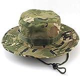 Boonie Hat,Sombrero de Cubo Protección Solar CP Camuflaje Cubo Sombrero para la...