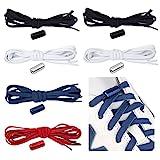 Feibmir 6 pares de cordones elásticos sin lazo, cordones universales para...