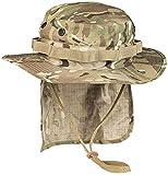 Mil-Tec Boonie Sombrero británico con protección Cuello Ripstop (Multitarn/L)