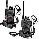 Walkie Talkie Recargables, Swonuk 16 Canales Profesional Radiocomunicación USB...