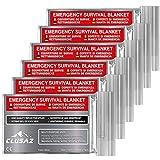 CLUSAZ Manta de Emergencia Plata XL 210x160cm (Paquete de 6) Retiene hasta el...