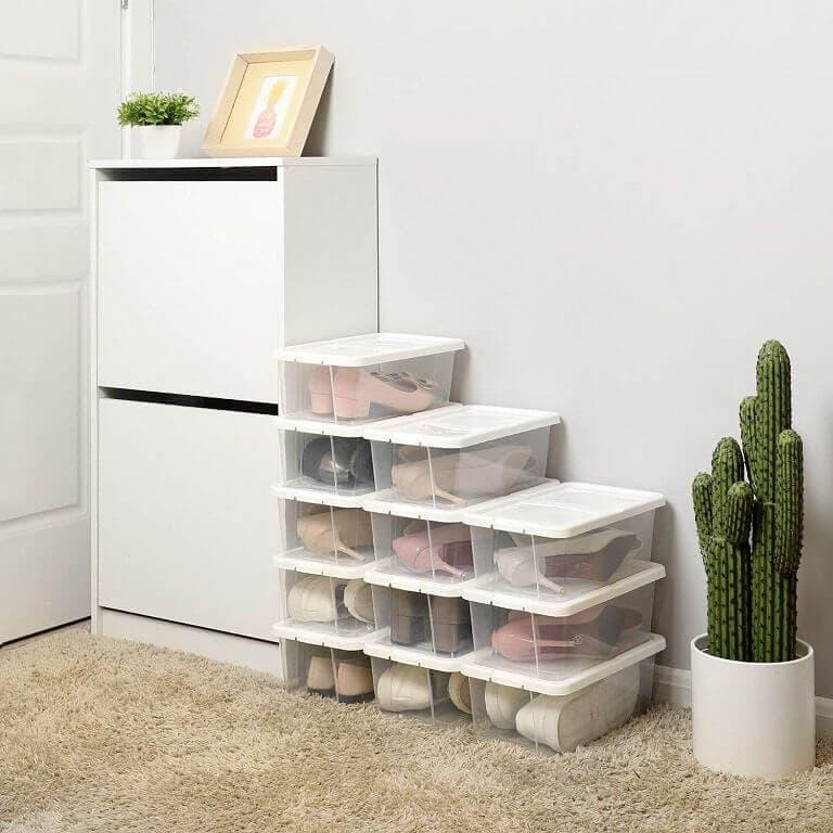 Cajas Organizadoras de Zapatos de Plástico