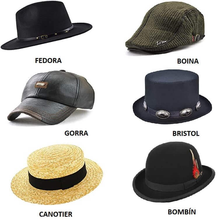 Distintos tipos de sombreros