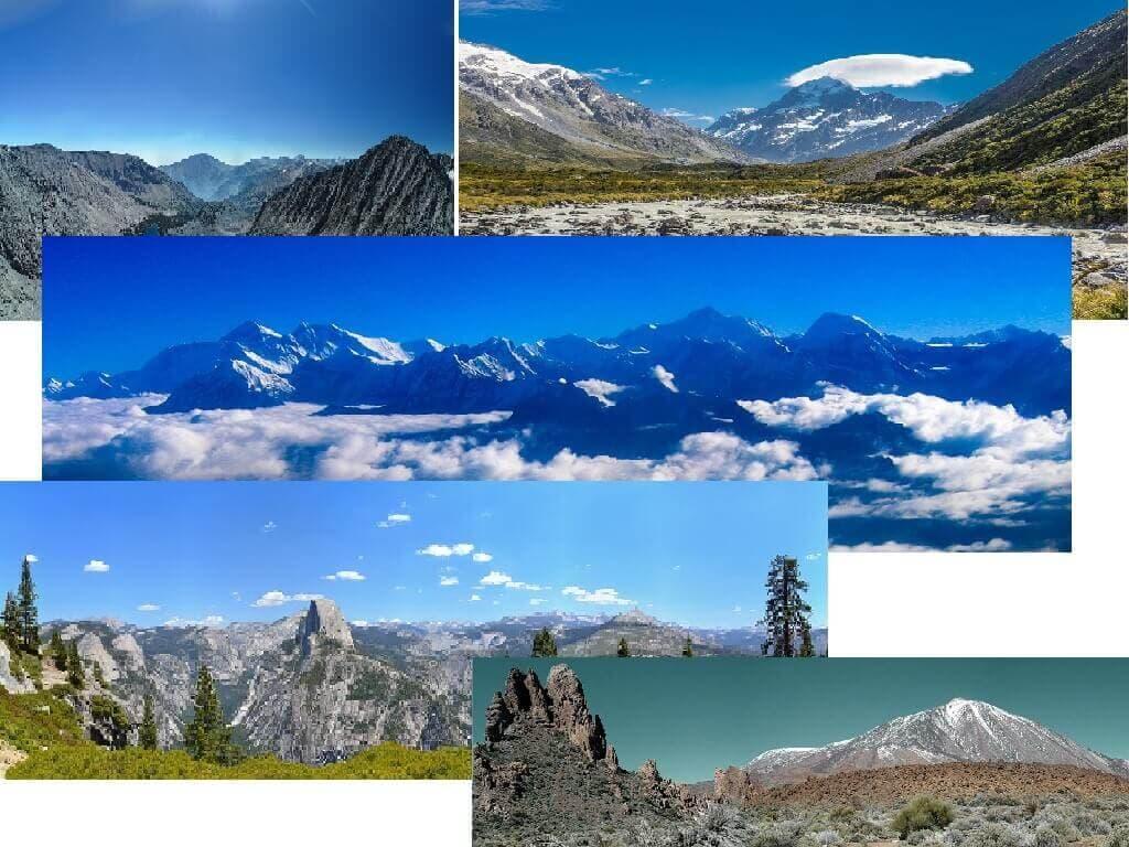 Tipos de Montañas